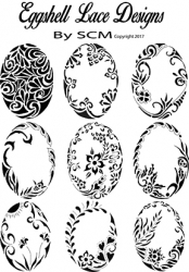 Lace filigree Egg patterns Over 100 Designs